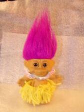 Vintage Troll Doll Russ 5'' Hawaiian Hula Dancer Girl Grass Skirt #18306