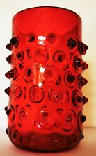 50er Mid Century Lenti Vase ROT Murano Noppenglas - Barovier & Toso - Seguso Ära