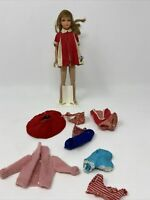 Vintage Barbie 1965 Bend Leg Skipper  W/ Dress and Other Outfits Included TLC