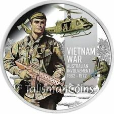 Niue 2012 Vietnam War 50th Anniversary $1 Pure Silver Dollar Proof Bell Huey UH1