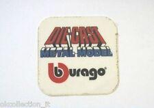 ADESIVO anni '80 /Old Sticker AUTO BURAGO DIE-CAST (cm 5 x 5) scritta blu