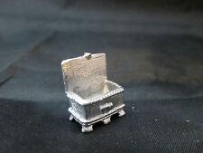 Dollhouse Miniature Unfinished Metal Jewelry Box