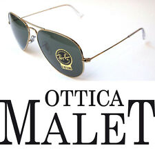 RAY BAN 3025 62 AVIATOR 001 GOLD SUNGLASSES OCCHIALE SOLE ORO LUNETTES