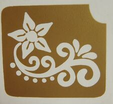 GT94 Body Art Temporary Glitter Tattoo Stencil  Henna Tribal Flower