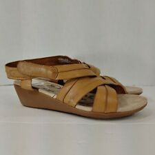 Bare Traps Mirabella Tan Brown Leather Slingback Open Toe Sandal Size 8