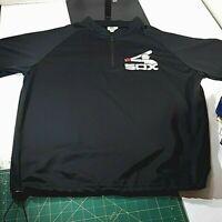 Vtg Chicago White Sox 80's Era Logo Black 1/4 Zip Jersey/Shirt XL Coca-Cola