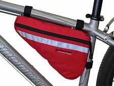 Bushwhacker Gallup Red Bicycle Frame Bag Cycling Pack Seat Top Tube Bike Wedge