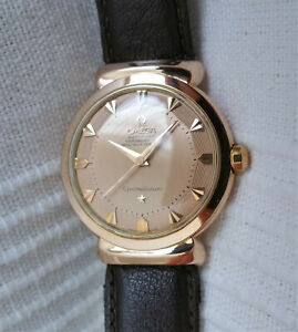 Vintage Swiss Omega Constellation Grand Luxe watch,18k rose gold, 505-14365,runs