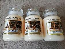 Yankee Candle BRAND NEW 3x Large Jars WINTER WONDER