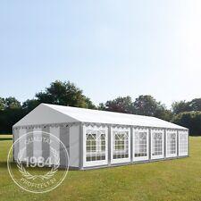 6x12m PVC  Partyzelt Bierzelt Zelt Gartenzelt Festzelt Pavillon grau-weiß NEU