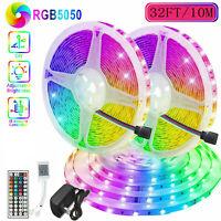 Led Strip Lights 32.8ft RGB Led Room Lights 5050 Led Tape Lights Color Changing