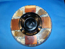 Ashtray Black Glass Harolds Club Casino For Fun Reno Lucite Holder vintage  @3