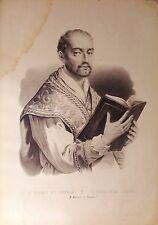 SAN IGNACIO DE LOYOLA, grabado s.XIX