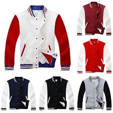 Mens Varsity Jacket College University Letterman Baseball Coats Outfits Outwear