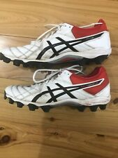 Asics Gel Football Boots Lethal 18 Mens SizeUS 9.5 Used RRP $164 White/Red/Black