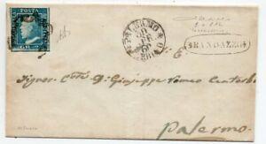 1860 ITALY SICILY INSURRECTIONAL PERIOD COVER, 2 KNOWN, RANDAZZO PMK