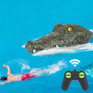 RC Boat 2.4G Remote Control Electric Racing Boat Crocodile Head Toys Floating