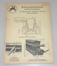 Istruzioni per L'Uso + Catalogo Ricambi Amazone Spandiconcime Tipo Bm Stato