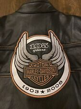 Harley-Davidson MENS XL 105th Anniversary Leather Jacket 97015-08VM