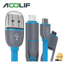 2in1 CAVO MICRO USB 2.0/3.0 LIGHTNING DATI E RICARICA PER APPLE IPHONE SAMSUNG