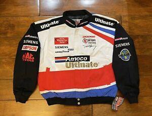 Dave Blaney #93 Amoco Racing Race Jacket Mens Size Large NASCAR Rare New