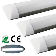 2xSuper Bright 4ft LED Wide Tube Light Ceiling Strip Lights Fitting 36w Daylight