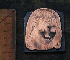 MÄDCHEN Galvano Druckplatte Klischee Eichenberg printing plate copper print