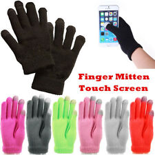 Unisex Winter Knit Warm Touch Screen Thermal Insulated Finger Mitten Gloves Lot