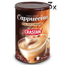 3 Crastan Cappuccino Classico Instant Coffee 250g in dose 20 cups caffè