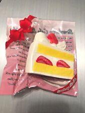RARE Medium Hayaru Cake Slice Squishy WHITE