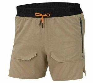 Nike Mens Tech Pack Brief Lined Tan Running Shorts Sz M BV5689-247
