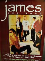 JAMES THE BAND rare original   promo Poster LAID 1993 Album