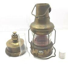 Koito OR-2A Class-A2 Red Oil Lantern Vintage Marine Brass Original Japan Rare