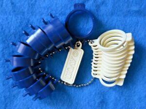 AVON Ring Jewelry Sizer Set Finger Size Gauge Measure Tool 1980s Vintage