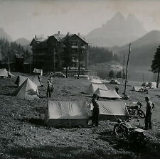 MISURINA c. 1950 - Dolomites Camps Motos Italie - DIV 3486