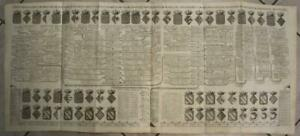 FRANCE KING OF FRANCE HERALDIC TREE 1720 CHATELAIN LARGE ANTIQUE TWO SHEETS MAP