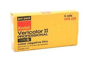 Kodak Vericolor II VSP220 Type S Pro Color Neg Film (Exp July 1978)5 Rolls 34586