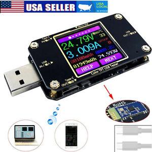 USB LCD Digital Power Meter Voltage Capacity Current Tester Ammeter Voltmeter US