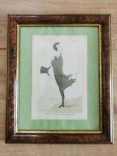 Lord byron vintage max beerbohm caricature print marked 1943 framed