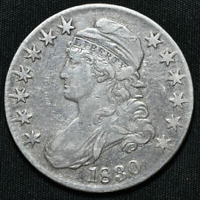 More details for 1830 united states of america, small 0, capped bust half dollar