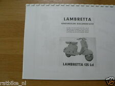 L0011 LAMBRETTA SPARE PART LIST 125 LD