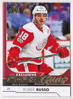 17-18 Upper Deck Robbie Russo 100 UD Exclusives Young Guns Rookie Red Wings 2017