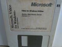 "ITHistory (1993) IBM/ Apple Software: MICROSOFT VIDEO For Windows Mac 1.1 3.5"""