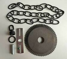 Ceiling Plate Canopy Kit w/ 3' of Chain in Blackened Tin for Hanging Chandelier