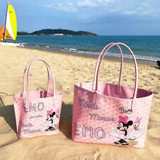 2Pc Minnie Mouse Tote Bag Lady Beach Large Capacity Portable Coin Purse FREESHIP