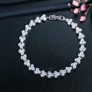 9Ct Round Cut Diamond 3Stone Mickey Mouse Bracelet Women's 14K White Gold Finish