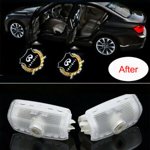 2x LED Car Door Light Logo Projector Ghost Shadow For Infiniti FX35/FX37 Q50 G35