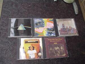 5 - Early 70's Rock CD's - Harrison, Crosby Stills Nash, Pink Floyd, Moody Blues