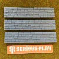 Garden Walls - Model Scenery Resin oo Scale Railway Walling Miniature Wargaming