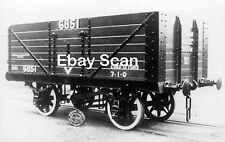 Railway Photograph Private Owner 12T 7 Plank Wagon No.6851 Stephenson Clarke